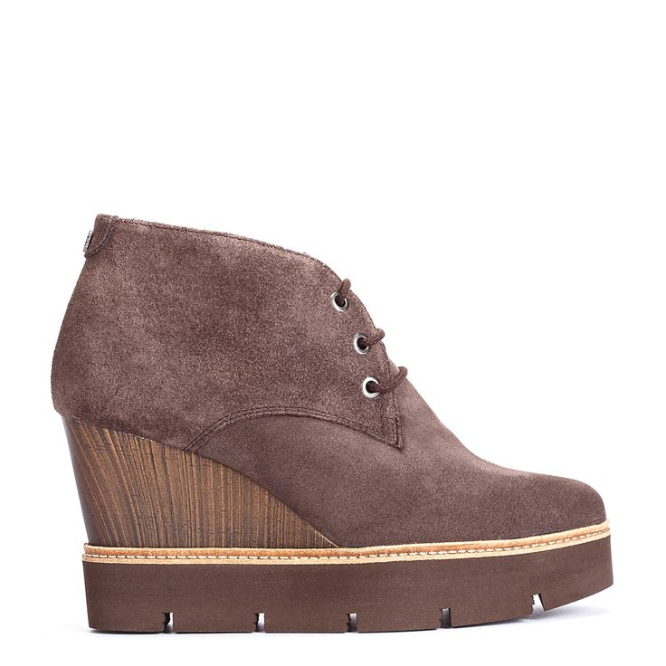 #zapatos #botín #cuña de la nueva colección #AW de #pedromiralles en color #gris #shoponline