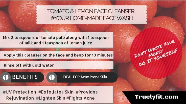 Lemon And Tomato Face Wash for Acne Prone Skin - Home Made