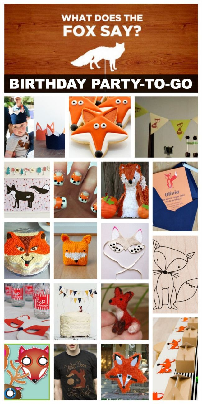 What Does the Fox Say Birthday Party-To-Go - creative geekery
