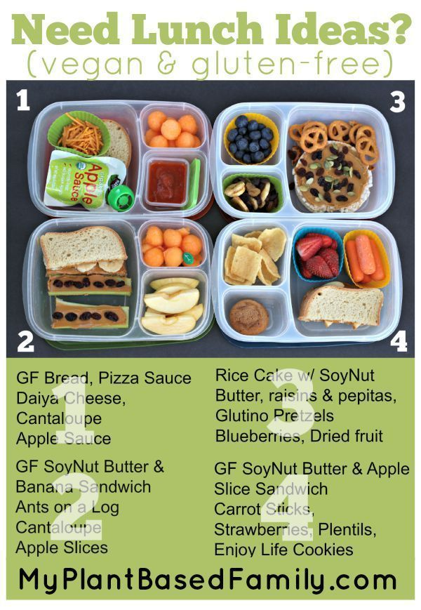 Vegan and Gluten-free Lunch Box Ideas packed in @EasyLunchboxes