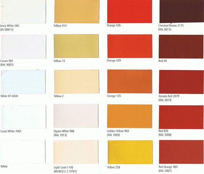 Sigma Paint Color Cards, International Paint Color Cards