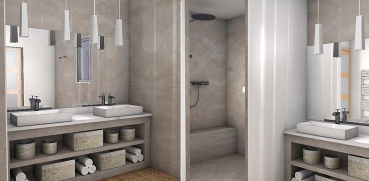 Décoration salle de bains moderne et design Corse | La 3D au ...