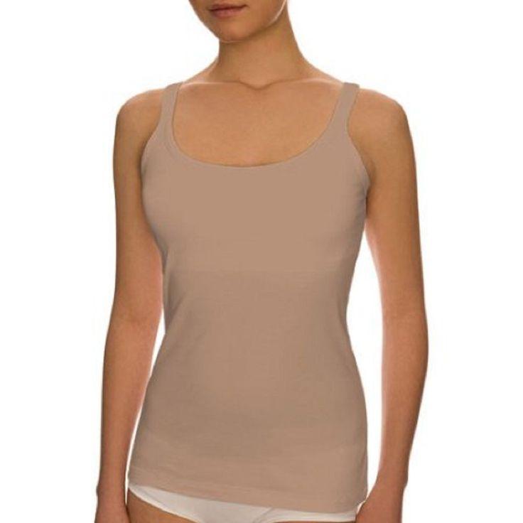 Best Fitting Women's Shelf Bra Camisole, M, Beige