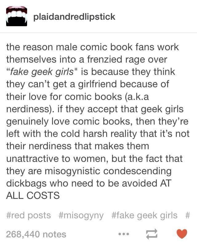 """Fake geek girls"""