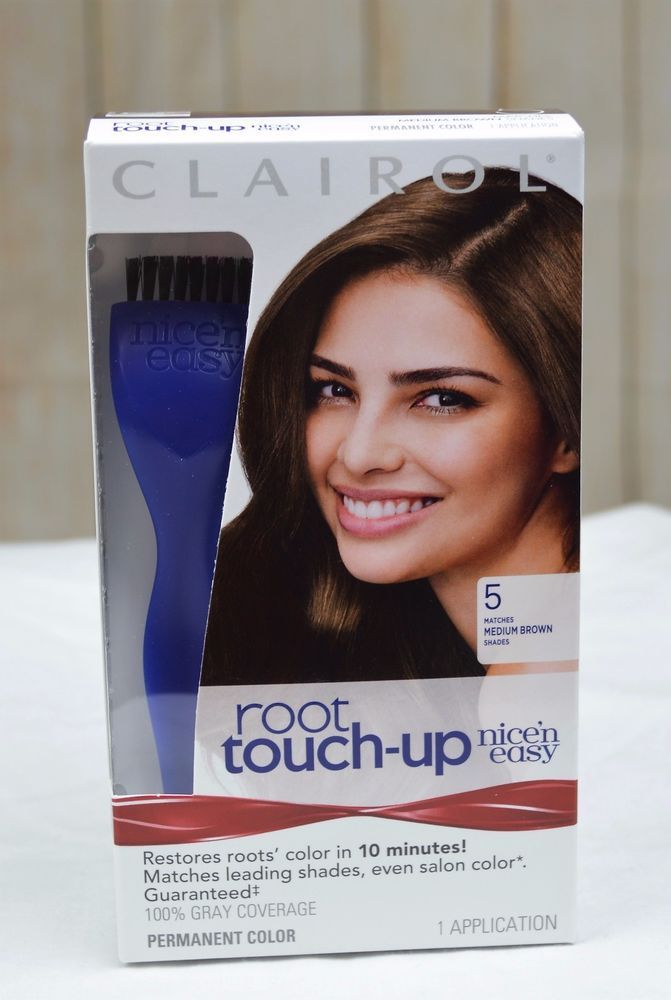 clairol nice n easy root touch up 5 medium brown permanent hair color 1 kit new - Clairol Nice And Easy Colors