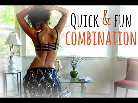 Quick and fun belly dance combination ~ Free belly dance classes online