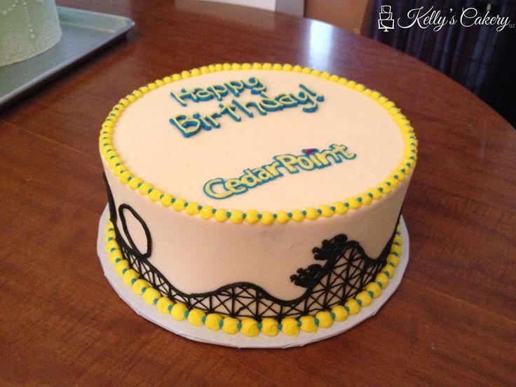 Roller Coaster cake - www.KellysCakery.com