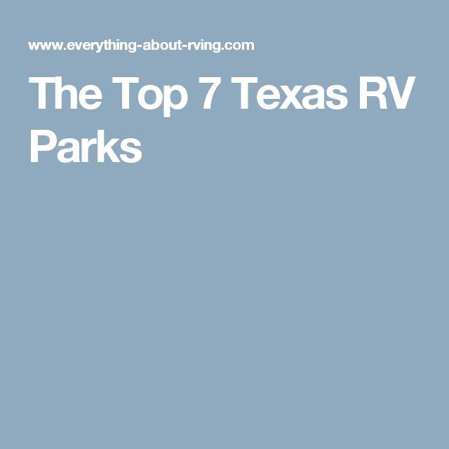 The Top 7 Texas RV Parks