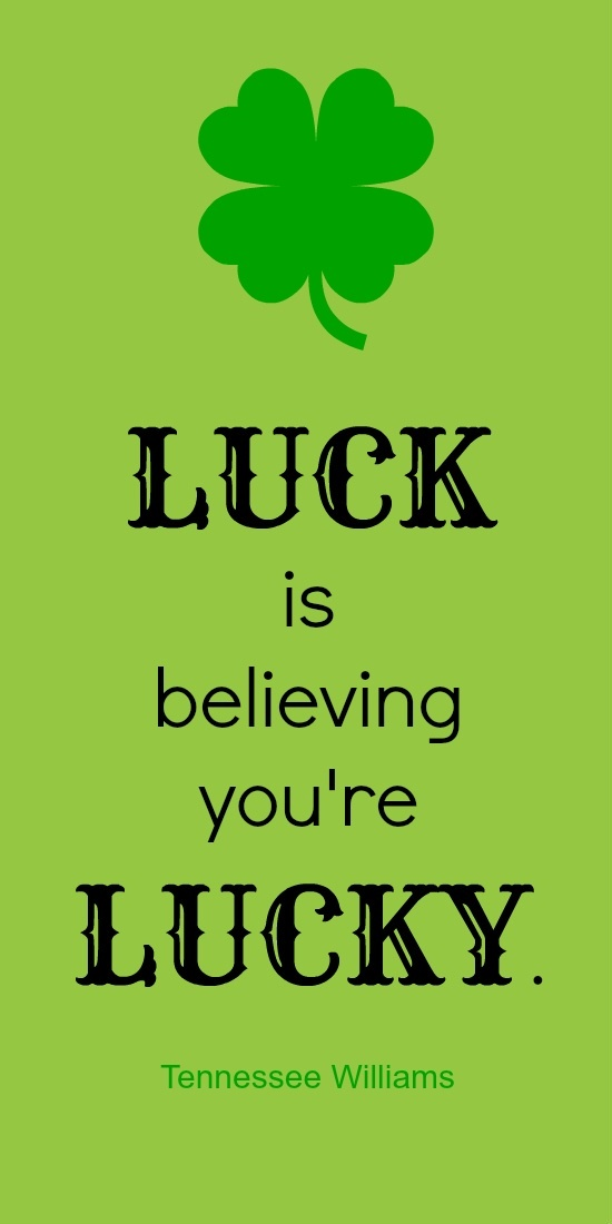Sayings About Luck