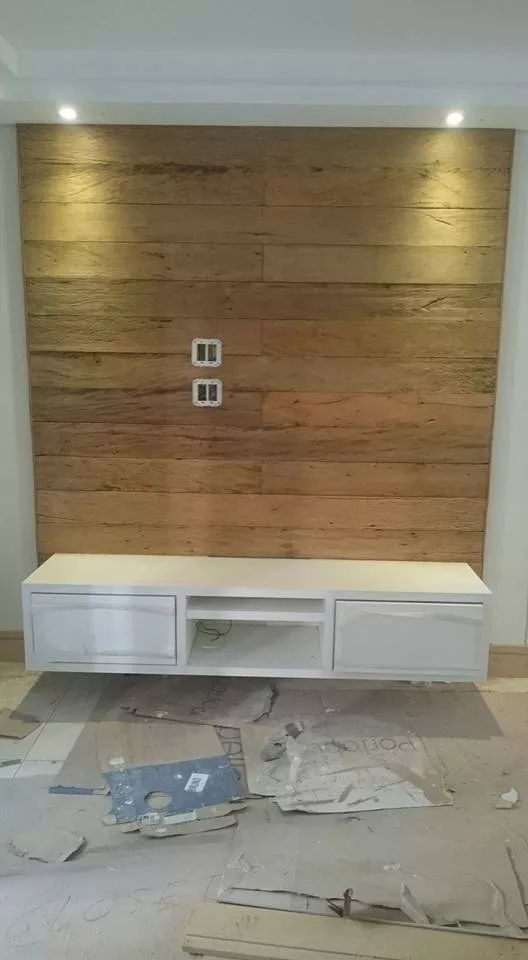 painel de madeira de demolição peroba rosa para tv