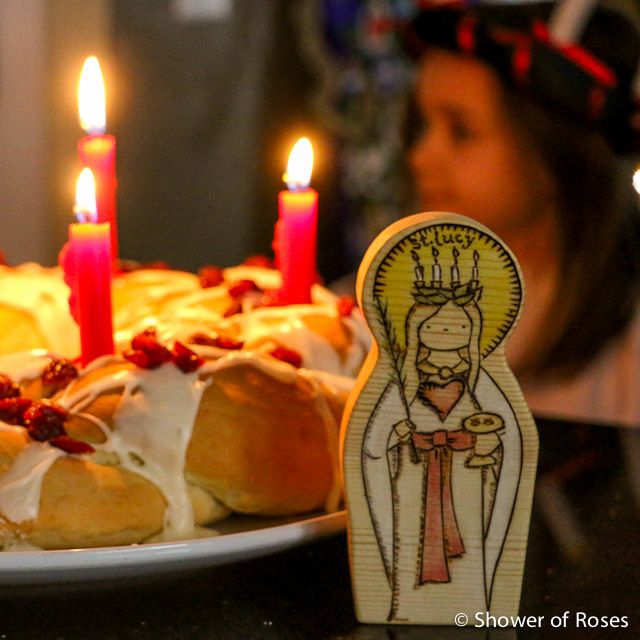 St. Lucy made by Naturally Catholic  from St. Nicholas Day      Santa Lucia   by Arvid Rosen   based on traditional Swedish lyrics   found...