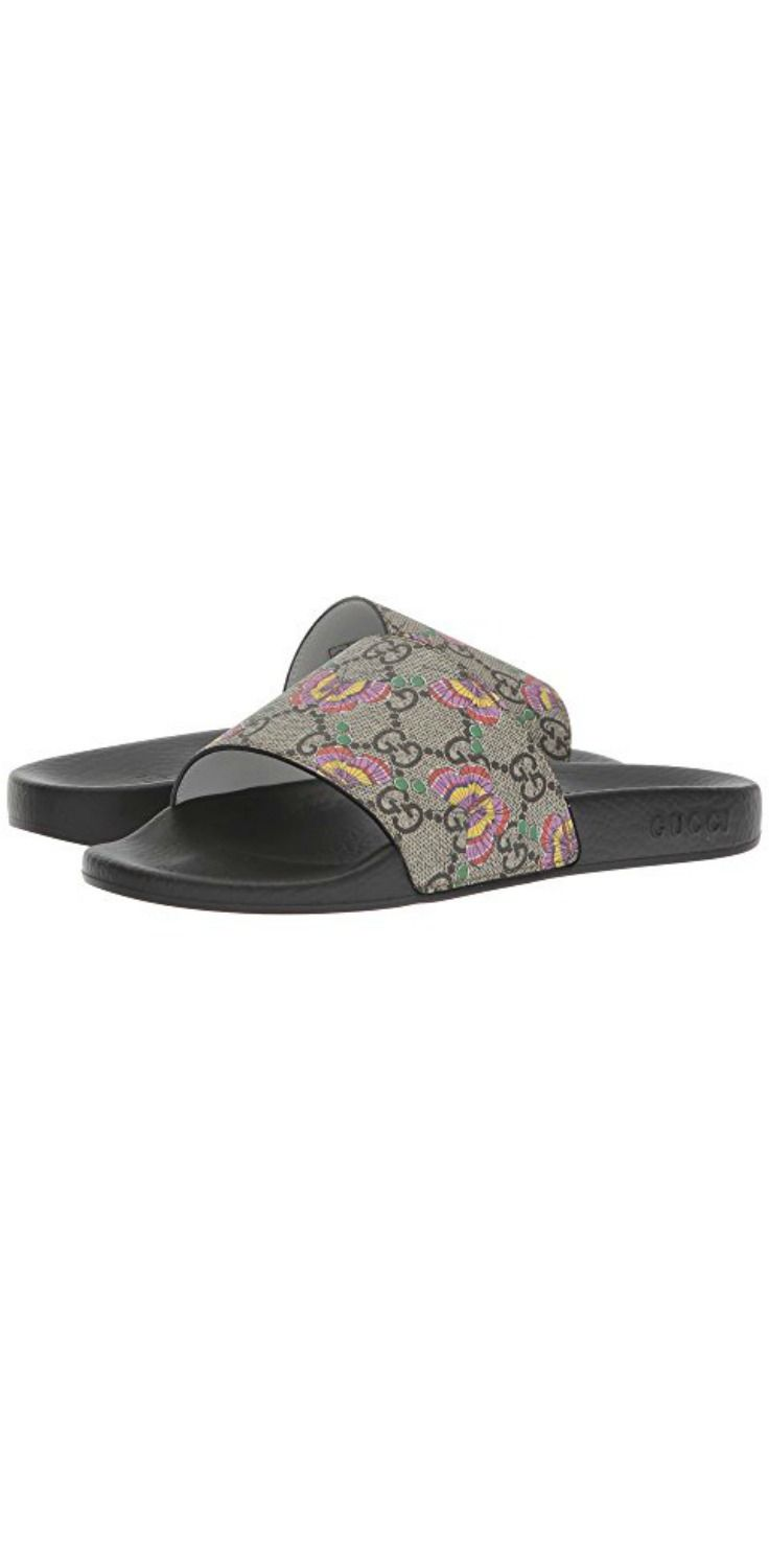 1fadab47c Let your girl head out to happiness in the #Gucci #Kids Pursuit #Slide. # girls #child #children #footwear #shoes #slides #sandals