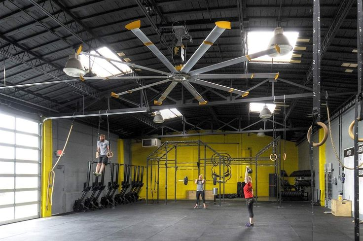 Specialty gym ceiling fans big ass crossfit box