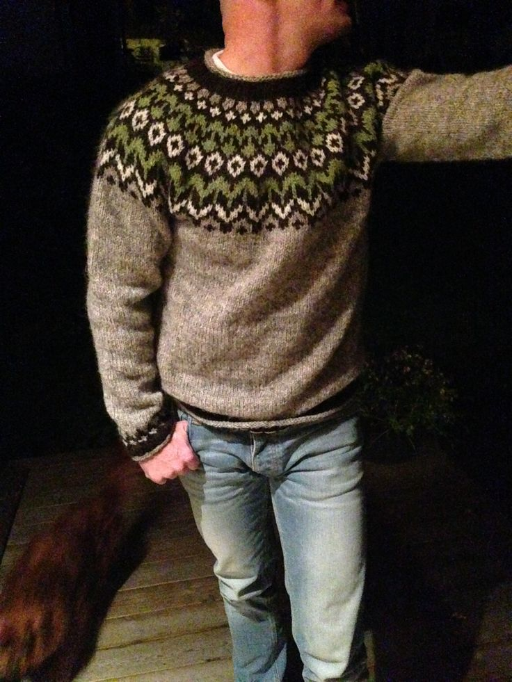 Riddari, icelandic menswear. Lett lopi yarn. Hot from the needles