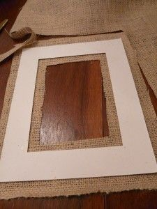 Burlap picture framing tutorial