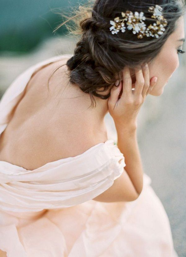 twisted low wedding chignon hairstyle