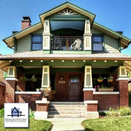 Can you believe this second story porch is new? See the before at Front-Porch-Ideas-and-More.com  (Remodeling by Renovation Design Group)