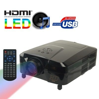 Projetor Led Hd 1080 3x Hdmi Usb Vga Multimídia Accessoria - R$ 1.799,98