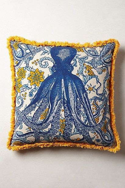 decor lookalikes anthropologie octopus garden pillow