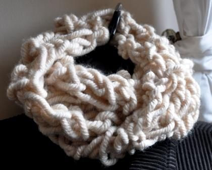 Cable arm knit infinity scarf - FOR SALE - website on the way, meantime contact me by sending a message.