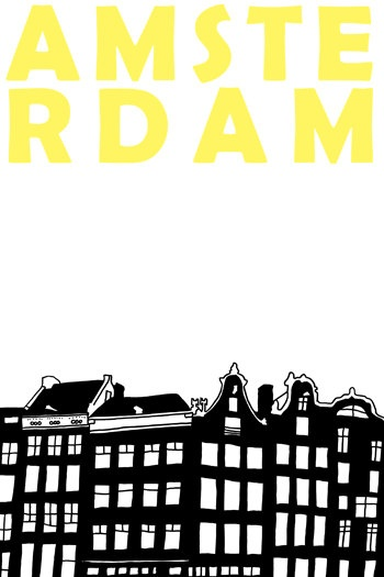 Amsterdam by illuminantpale via Etsy.: Picture, Wall Decals, Amsterdam Silhouette, Illustration, Scrapbook