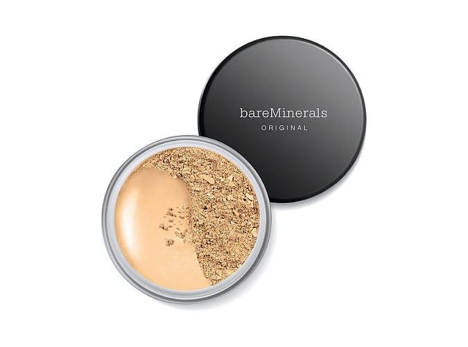 Bare Minerals Original Mineral Foundation           With just five mineral ingredients, this powder delivers an impressive amount of coverage. Plus, the hypoallergenic and non-comedogenic formula won't irritate skin or break you out.  Bare Minerals ($29)