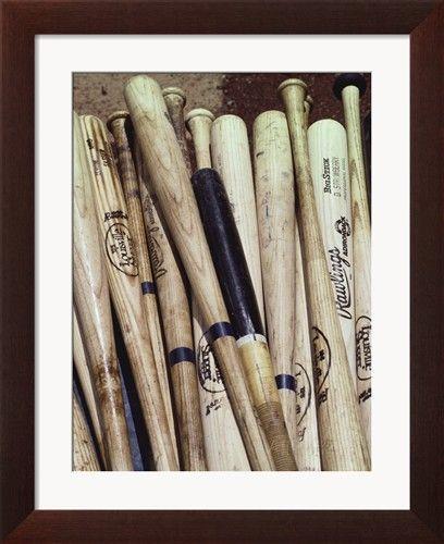 Honkbalknuppels Fotoprint van Paul Sutton bij AllPosters.nl