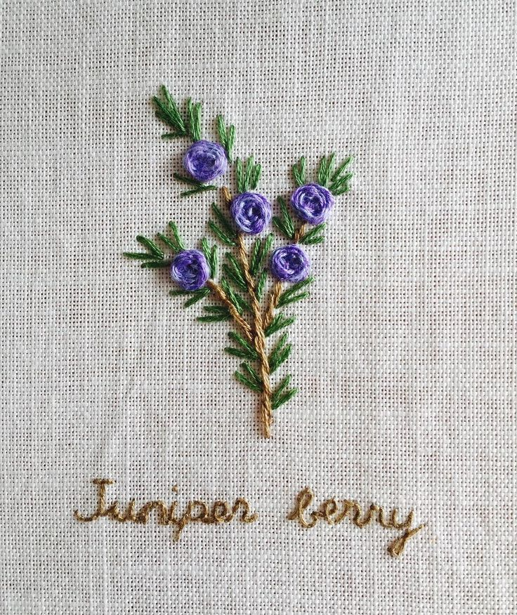 Embroidered Juniper Berry.