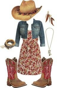 Country girl style - no cowgirl hat and more versatile boots.