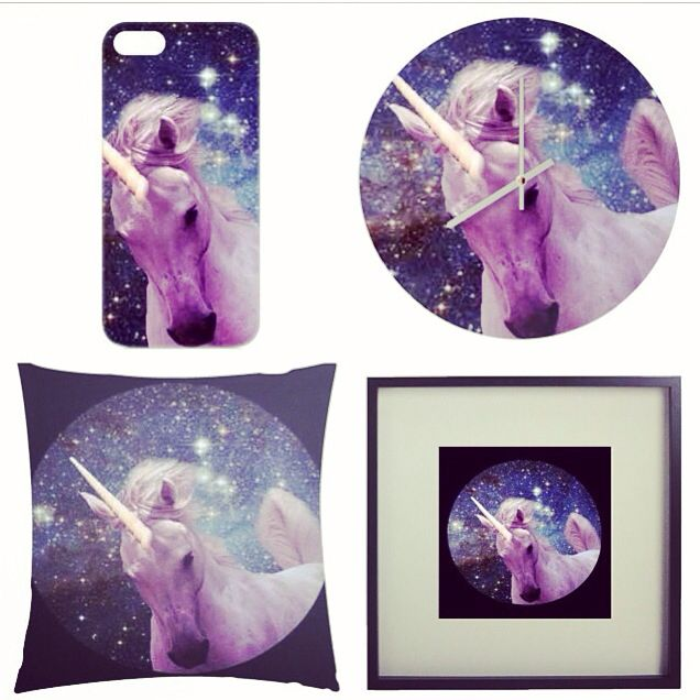 Unicorn design in lots of fun gift ideas, pillows, phone cases, mug and much more check out http://www.artrookie.co.uk/riasiobhan