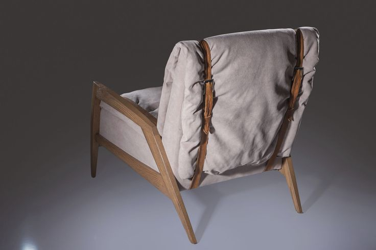 Contemporary armchair / solid wood / fabric / leather - AERO : LOUNGE - G. Rios Furniture & Design
