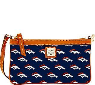 Dooney & Bourke NFL Broncos Large Slim Wristlet