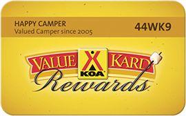 KOA Value Kard $30/yr