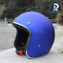 [ 18% OFF ] New Motorcycle Blue Vintage Open Face Scooter Helmet For Adults 3/4 Moto Retro Jet Helmets 4 Colors