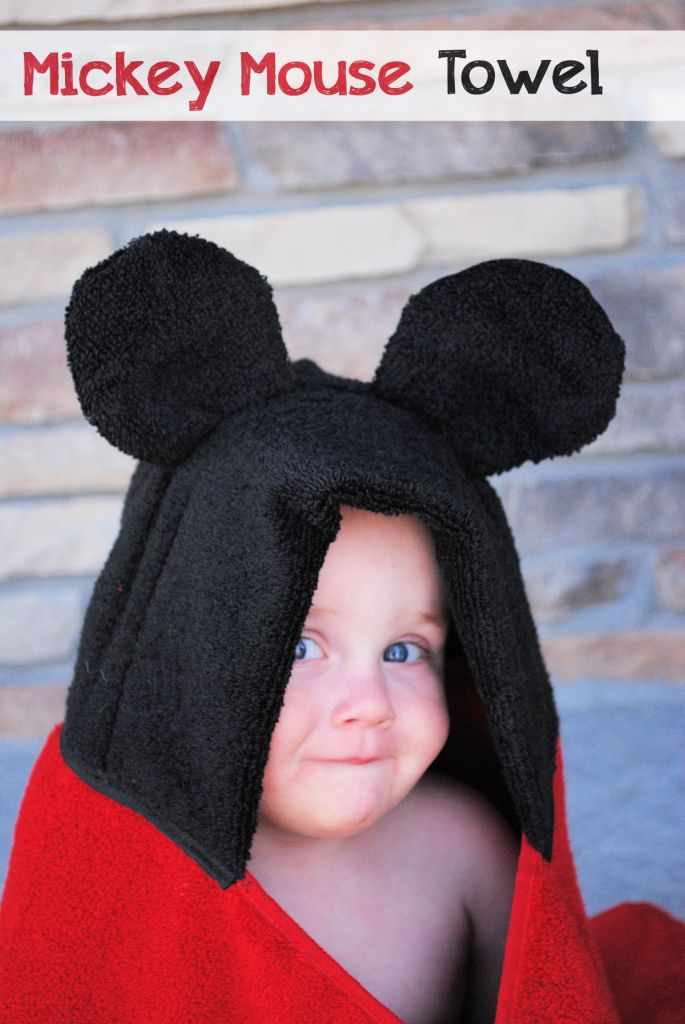Mickey Mouse Towel Tutorial by CrazyLittleProjects.com