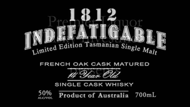http://premier-liquor.com/blog   1812 Indefatigable Whisky is produced exclusively for the Premier Liquor brand with only 100 bottles made available in the world every year. This is produced by Sullivan's Cove the leading Tasmanian whisky which was recently named the world's best single malt whisky at the World Whiskies Awards 2014 in London. https://www.youtube.com/watch?v=ga0x5F6orFY