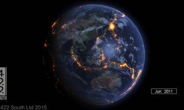 Mesmerizing Video Shows All The World's Earthquakes Since 2000