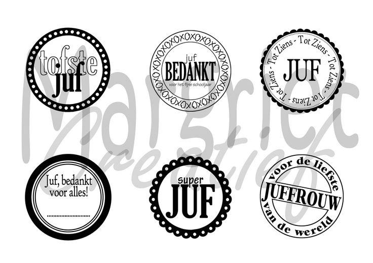 Bij Margriet Creatief; o.a. verkoop van Stampin' Up!: Juffen en meesters van Nederland; bedankt!!!