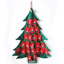 Большой урожай висит ткань рождественская елка появление календаря адвента - календарь с пронумерованными безделушка карманы бесплатная доставка(China (Mainland))