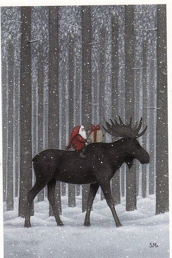Eva Melhuish. Swedish Would make a great christmas card !~! I LOVE the animals in this series