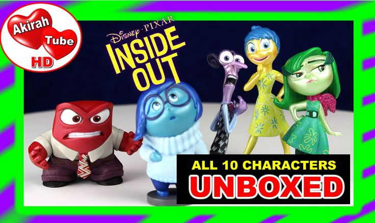 """INSIDE OUT MOVIE INSIDE OUT TOYS JOY SADNESS DISGUST UNBOXED: https://youtu.be/Z7Py_CwIQlE  ------ This is the unboxing of the""""Inside Out movie's"""" main Inside Out characters. Disney Pixar created a wonderful animated movie starring the emotions of an 11 year old little girl who is confronted with some challenging situations. The main focus of the Inside Out movie is what is ocurring inside Riley's head and the contrasting emotions that navigate Riley through her life.   There are five…"""