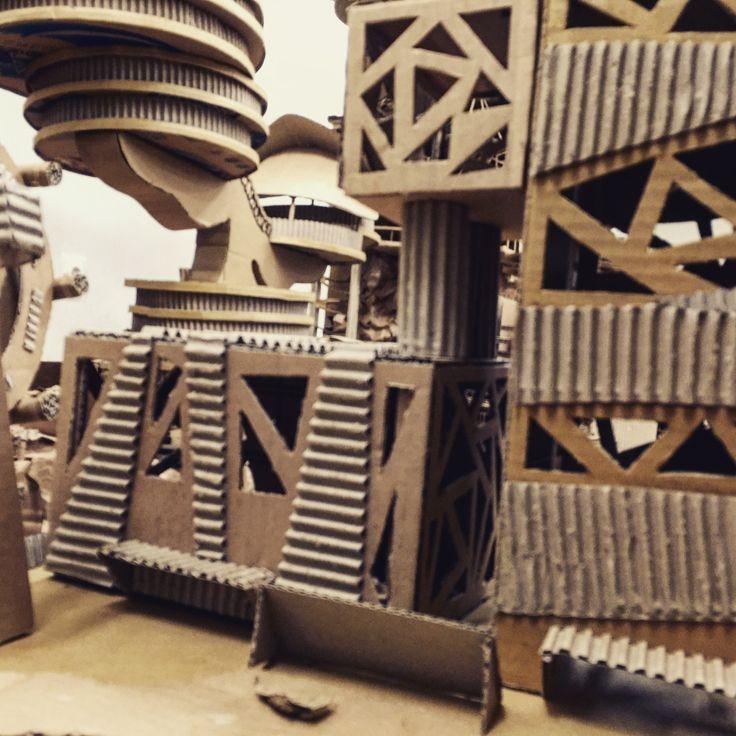 FAVORITE ; OFFICE COMPLEX  #tomorrowland #project #tekomars #architecture #cardboard #interior #ui