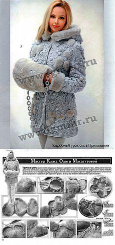"""Пальто """"Мое зимнее лето"""" от Ольги Масагутовой   Вязание крючком и спицами"""