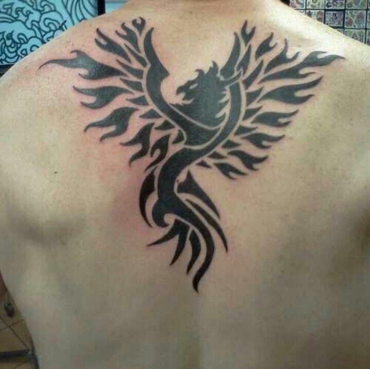 tribal bird tattoo on back body abstarct bird back body tattoo bird ...