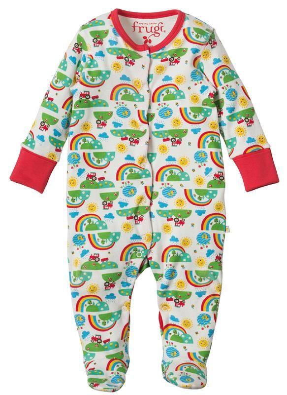 Frugi Lovely Babygrow - Happy Days Retro Baby Clothes - Baby Boy clothes - Danish Baby Clothes - Smafolk - Toddler clothing - Baby Clothing - Baby clothes Online