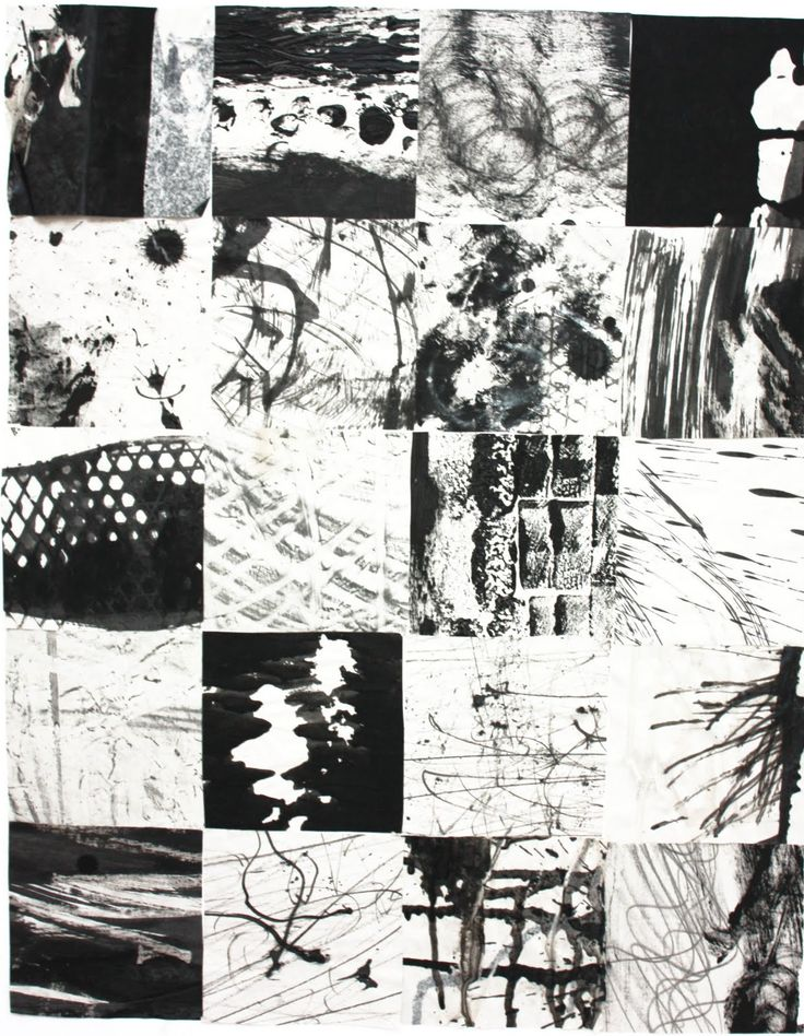 Robert Turner online portfollio: Black and white mark making  The artist's mark-making is very expressive and experimental