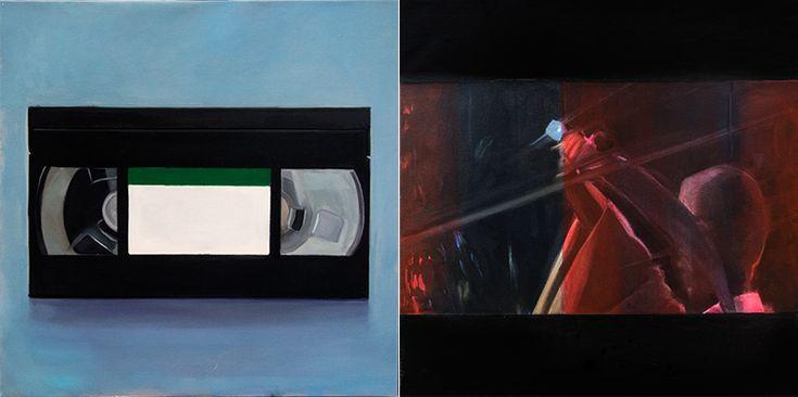 36 komnat, oil on canvas, 2x50x50cm