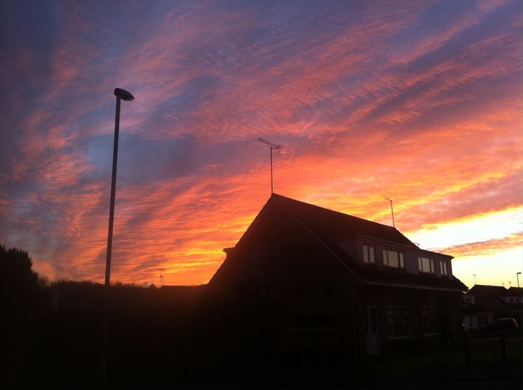The beautiful sunset from my spare room window tonight... 23.11.14
