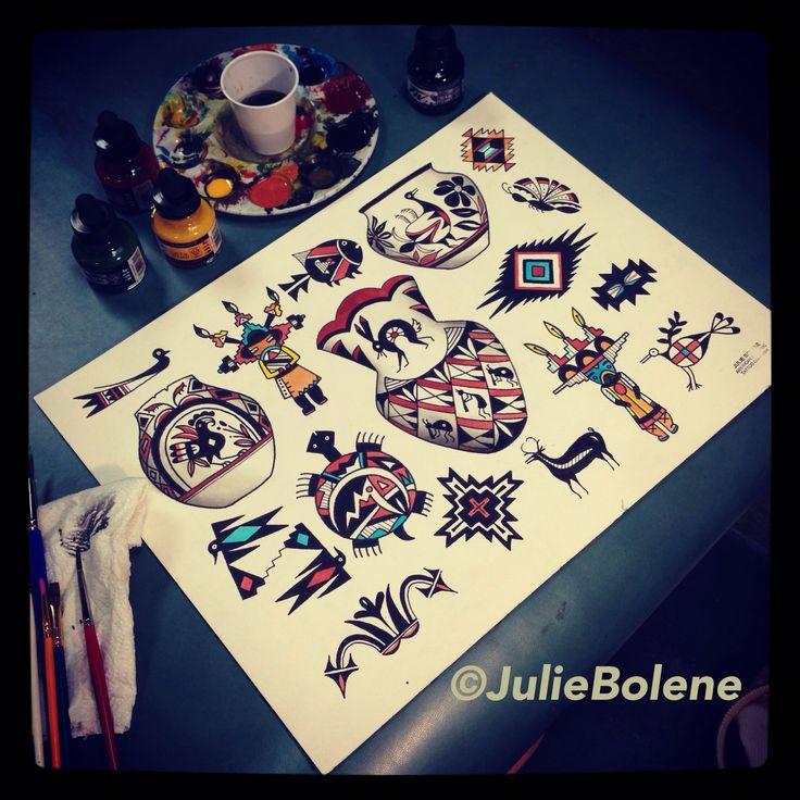 New Mexico tattoo flash by julie bolene