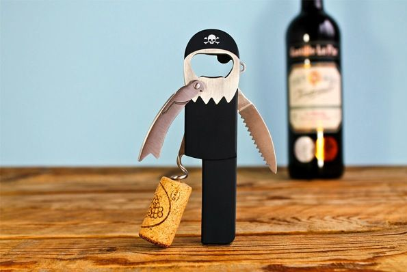 This Pirate Corkscrew Is Legless Until You Open The Wine - best corkscrew ever!